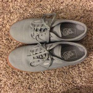 Women's Gray Original Vans Shoes Size 6.5